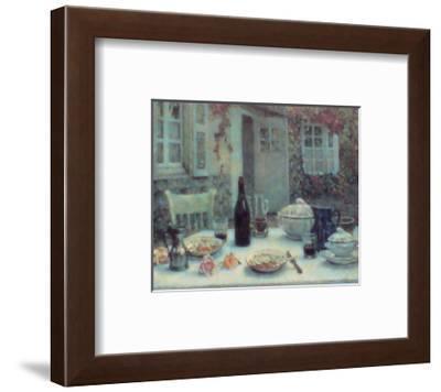 Lunch on the Terrace-Henri Eugene Augustin Le Sidaner-Framed Art Print