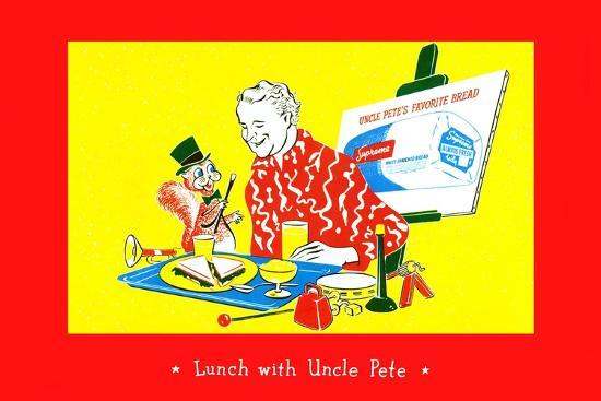 Lunch With Uncle Pete--Art Print