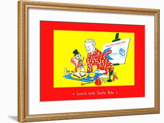 Lunch With Uncle Pete--Framed Art Print