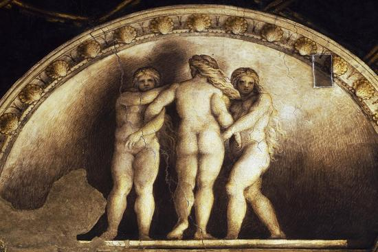 Lunette with the Three Graces--Giclee Print