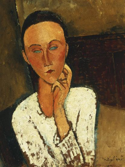 Lunia Czechowska (With Hand on the Right Cheek); Lunia Czechowska (La Main Gauche Sur La Joue),…-Amedeo Modigliani-Giclee Print