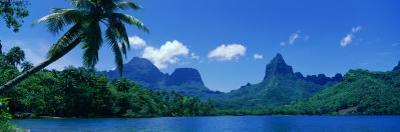 Lush Foliage and Rock Formations, Moorea Island, Tahiti