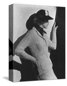 Vogue - April 1936 - Profile of Woman in a Black Hat by Lusha Nelson