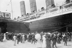 Lusitania at New York Dock