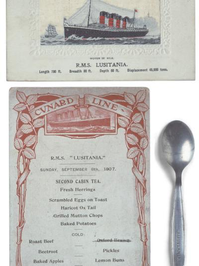 Lusitania Menu--Photographic Print