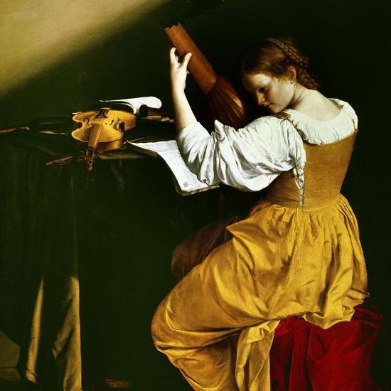 Lute Player, C. 1626-Orazio Gentileschi-Giclee Print