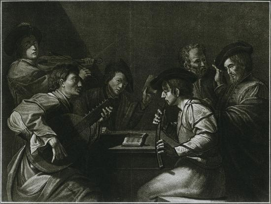 'Lute, violin and black (curved) zink; Italian engraving of the year 1784', 1948-Unknown-Giclee Print