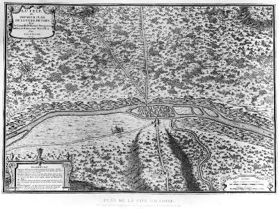 Lutetia or the First Plan of Paris, from Caesar, Strabo, Emperor Julian and Ammianus Marcellinus--Premium Giclee Print