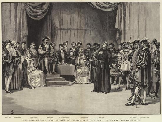 luther before the diet at worms giclee print by frank dadd art com