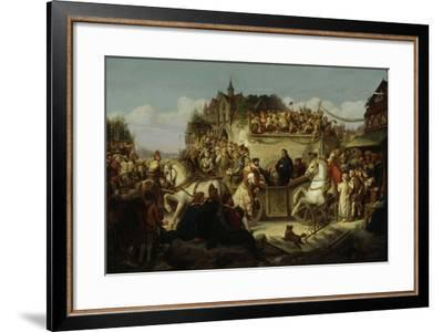 Luther on the Way to the Diet of Worms, April 1521, C.1850-65-August Viereck-Framed Giclee Print