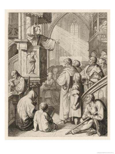 Luther Preaching-Gustav Konig-Giclee Print