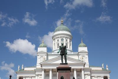 Lutheran Cathedral and the Statue of Emperor Alexander II of Russia, Helsinki, Finland, 2011-Sheldon Marshall-Photographic Print