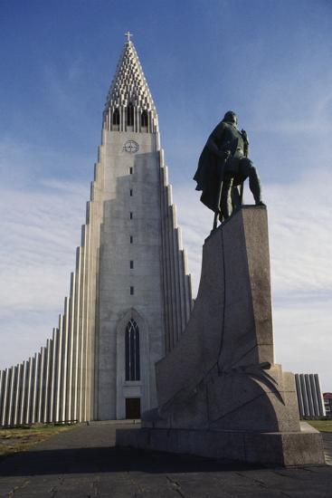 Lutheran Church of Hallgrimurin (Hallgrimskirkja) in Reykjavik--Photographic Print