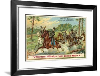 Lutzow's Wild Chase--Framed Giclee Print