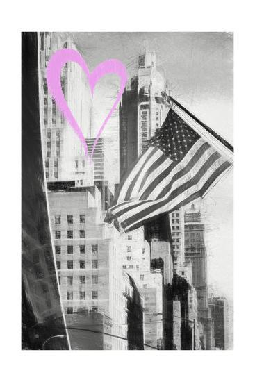 Luv Collection - New York City - American Flag-Philippe Hugonnard-Giclee Print