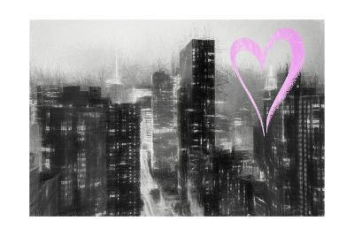 Luv Collection - New York City - Manhattan by Night-Philippe Hugonnard-Giclee Print