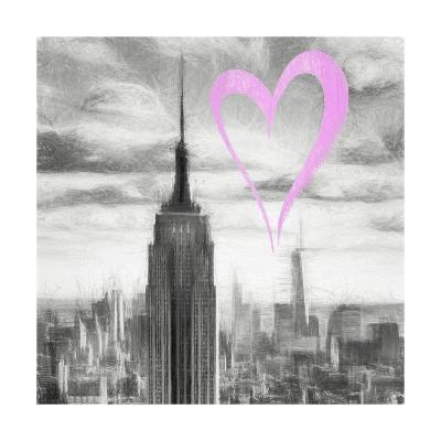 Luv Collection - New York City - Manhattan Skyscrapers II-Philippe Hugonnard-Giclee Print