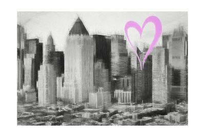 Luv Collection - New York City - Manhattan View-Philippe Hugonnard-Giclee Print