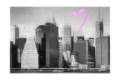 Luv Collection - New York City - Skyscrapers-Philippe Hugonnard-Giclee Print
