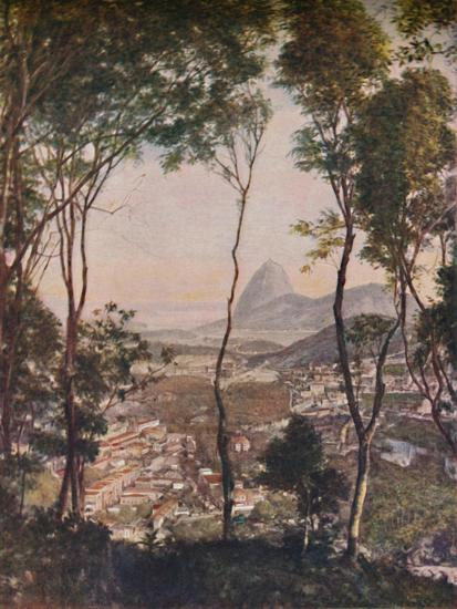 'Luxuriant woods on the hill of Santa Thereza looking down upon the roofs of Lapa', c1935-Unknown-Giclee Print