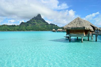 Luxury Overwater Vacation Resort on Bora Bora-pljvv-Photographic Print