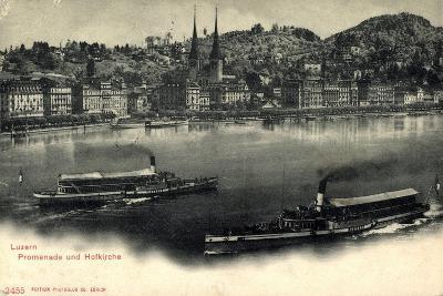 Luzern, Luzerner See, Dampfer Victoria Und Schweiz--Giclee Print