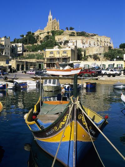 Luzzu Fishing Boat, Mgarr Harbour, Gozo, Malta, Mediterranean, Europe-Stuart Black-Photographic Print