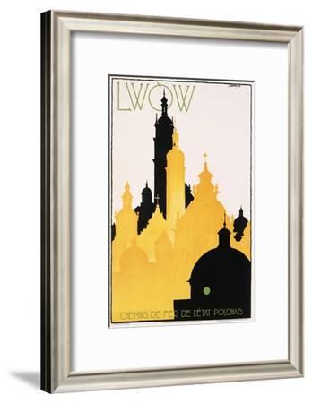Lwow Poster-Stefan Norblin-Framed Giclee Print