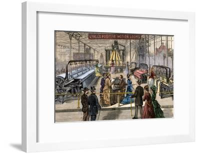 Lyall's Positive Motion Looms in Machinery Hall, Centennial Exposition Philadelphia, 1876--Framed Photographic Print