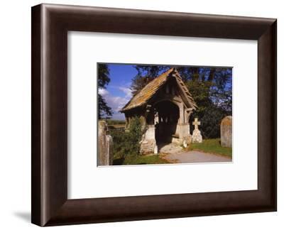 Lychgate of Winfrith Newburgh Church, Dorset, 20th century-CM Dixon-Framed Photographic Print