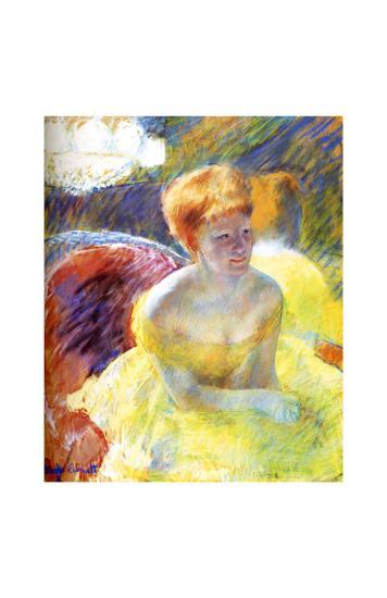 Lydia at the Theater-Mary Cassatt-Giclee Print