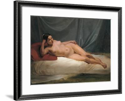 Lying Nude-Antonio Muzzi-Framed Art Print