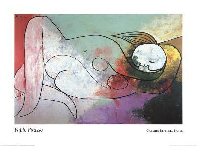 Lying Woman with Blond Hair-Pablo Picasso-Art Print