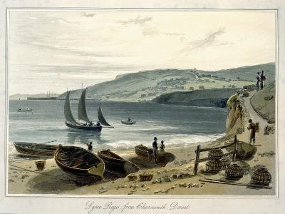 Lyme Regis, from Charmouth, Dorset-William Daniell-Giclee Print