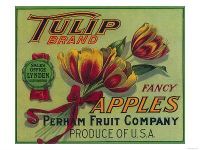 Lynden, Washington - Tulip Apple Crate Label-Lantern Press-Art Print