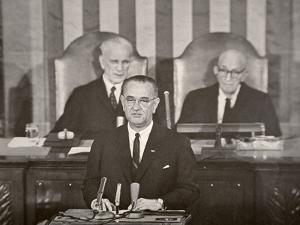 Lyndon B. Johnson Addressing Congress