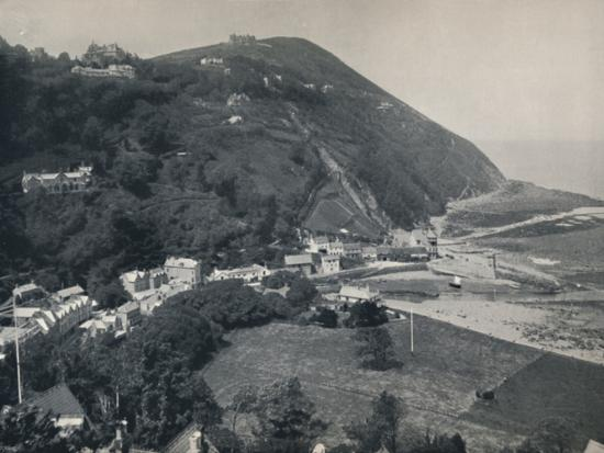 'Lynmouth - The Hill, Showing Lynton Above', 1895-Unknown-Photographic Print