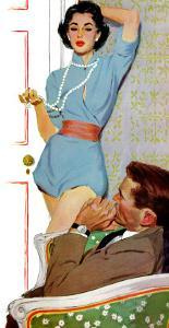 "Lovely Neighbor  - Saturday Evening Post ""Leading Ladies"", November 20, 1954 pg.43 by Lynn Buckham"