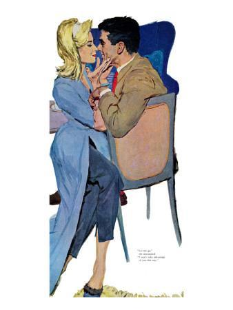 """Marriage Mood - Saturday Evening Post """"Leading Ladies"""", March 5, 1960 pg.25"""
