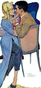 "Marriage Mood - Saturday Evening Post ""Leading Ladies"", March 5, 1960 pg.25 by Lynn Buckham"