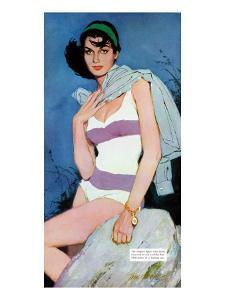 "Sweet Enemy - Saturday Evening Post ""Leading Ladies"", October 5, 1957 pg.30 by Lynn Buckham"