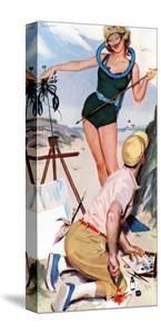 "The Girl From the Ocean Floor  - Saturday Evening Post ""Leading Ladies"", December 18, 1954 pg.24 by Lynn Buckham"