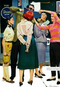 """The Girl He Remembered - Saturday Evening Post """"Men at the Top"""", June 15, 1957 pg.26 by Lynn Buckham"""