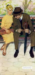 """Women Are Like That - Saturday Evening Post """"Men at the Top"""", January 12, 1957 pg.31 by Lynn Buckham"""