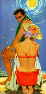 "The Eighteenth Bachelor - Saturday Evening Post ""Leading Ladies"", September 27, 1958 pg.30 by Lynn Buckhman"