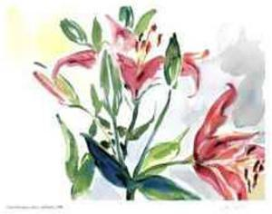 Lilies and Buds by Lynn Donoghue