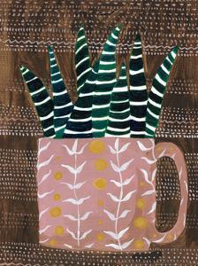 Succulent Cup by Lynn Mack