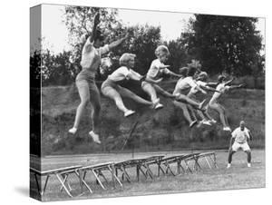 Cheerleaders Training under Bill Horan, American Cheerleaders Assn, Florence Alabama State College by Lynn Pelham