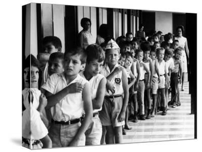 Entire Population of Costa Rica is Inoculated Against Smallpox, Measles and Polio