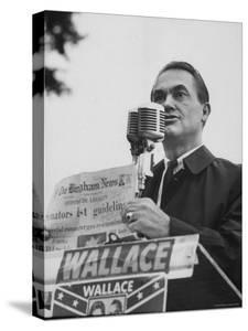 Gov. George C. Wallace of Alabama Campaigning on Behalf of His Wife For Governor by Lynn Pelham